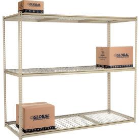 "High Capacity Starter Rack 96""W x 36""D x 96""H With 3 Levels Wire Deck 800lb Cap Per Shelf"