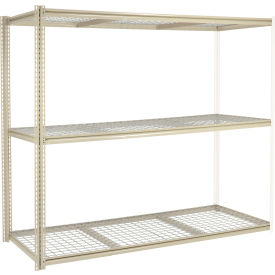"""High Capacity Add-On Rack 96""""W x 36""""D x 96""""H With 3 Levels Wire Deck 800 Lb Cap Per Level"""