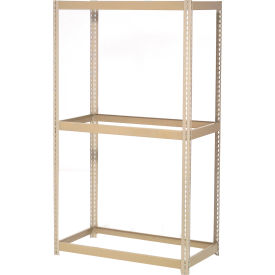 "Expandable Starter Rack 36""W x 12""D x 84""H Tan With 3 Levels No Deck 1500 Lb Cap Per Level"