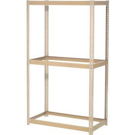 "Expendable Starter Rack 60""W x 36""D x 84""H Tan With 3 Levels No Deck 1000 Lb Cap Per Shelf"
