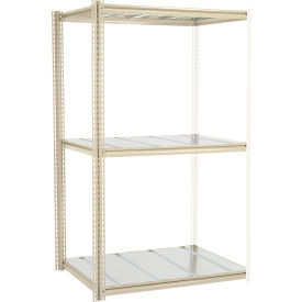 """High Capacity Add-On Rack 48""""W x 48""""D x 84""""H With 3 Levels Steel Deck 1500lb Cap Per Level"""