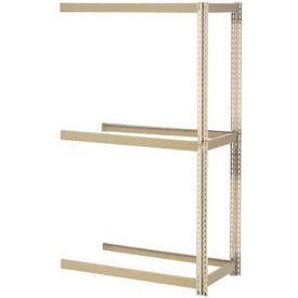 """Expandable Add-On Rack 48""""W x 12""""D x 84""""H Tan With 3 Levels No Deck 1500 Lb Cap Per Level"""