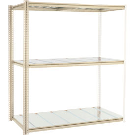 """High Capacity Add-On Rack 72""""W x 48""""D x 96""""H With 3 Levels Steel Deck 1000lb Cap Per Level"""