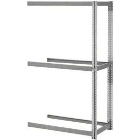 """Expandable Add-On Rack 72""""W x 36""""D x 84""""H Gray With 3 Levels No Deck 750 Lb Cap Per Level"""