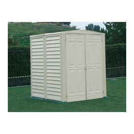 "Outdoor YardMate PVC Storage Shed 5'3""x5'3""x6'6"""