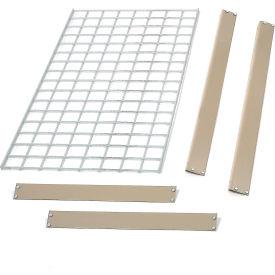 """Bulk Rack Shelf Wire Deck 96""""W x 24""""D Tan"""