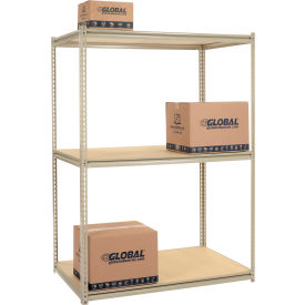 "High Capacity Starter Rack 60""W x 48""D x 84""H With 3 Levels Wood Deck 1300lb Cap Per Shelf"