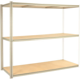 """High Capacity Add-On Rack 96""""W x 48""""D x 84""""H With 3 Levels Wood Deck 800 Lb Cap Per Level"""