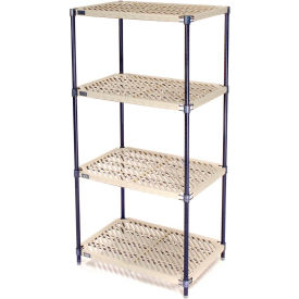 Vented Plastic Shelving 30x18x54 Nexelon Finish