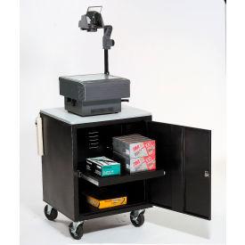 Black Security Audio/Visual Cart 500 Lb. Capacity