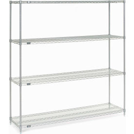 "Nexel Stainless Steel Wire Shelving 72""W X 18""D X 74""H"