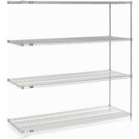 """Nexel Stainless Steel Wire Shelving Add-On 72""""W X 24""""D X 74""""H"""
