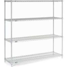 "Nexel Stainless Steel Wire Shelving 60""W X 18""D X 63""H"