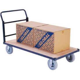 "Steel Bound Wood Deck Platform Truck 60 x 30 1200 Lb. Capacity 8"" Pneumatic Casters"