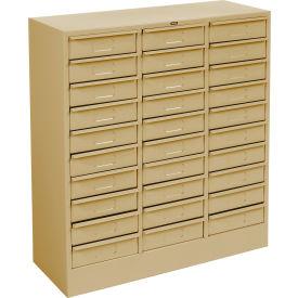 "Tennsco Drawer Cabinet 2085-SND - 30 Drawer Letter Size,30 5/8""W X 11-5/8""D X 33""H, Sand"