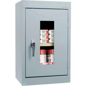 Sandusky Clear View Wall Cabinet WA1V161226 Single Door - 16x12x26, Light Gray