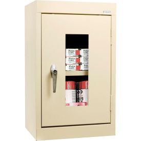 Sandusky Clear View Wall Cabinet WA1V161226 Single Door - 16x12x26, Putty