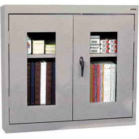 Sandusky Clear View Wall Cabinet WA1V301226 Double Door - 30x12x26, Light Gray