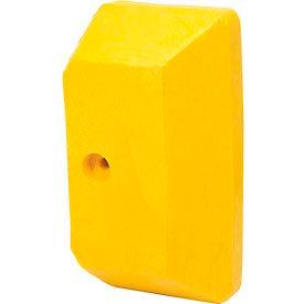 Plastic Yellow End Cap For Guard Rail