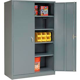 Global Metal Storage Cabinet Easy Embly 48x24x78 Gray