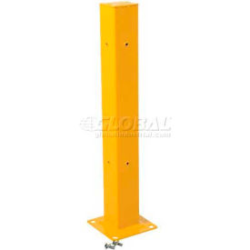 "42""H High Double Rail Fixed Tubular Mounting Post"
