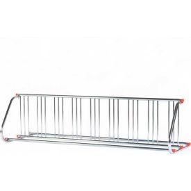 Grid Bike Rack, 18-Bike, Double Sided, Powder Coated Steel