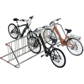 Grid Bike Rack, 10-Bike, Double Sided, Powder Coated Galvanized Steel