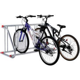 Grid Bike Rack, 5-Bike, Single Sided, Powder Coated Galvanized Steel