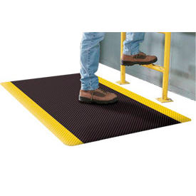 Supreme Sliptech Mat 11/16 Thick 2 Ft W Cut Length To 60ft Black W/Yellow Border
