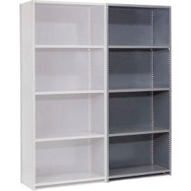 "Steel Shelving 18 Ga 36""Wx18""Dx73""H Closed Clip Style 5 Shelf Add-On"
