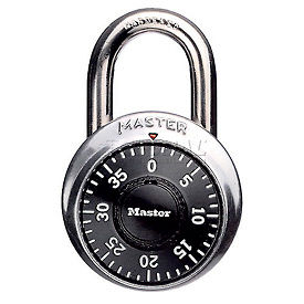 "Master Lock® Combination Padlock 3/4"" Shackle"