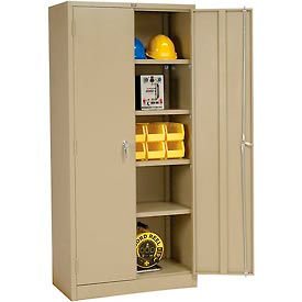 Global™ Storage Cabinet Assembled 36x18x78 Tan