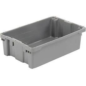 "LEWISBins SN2012-6 Polyethylene Container 20""L x 13""W x 6-1/4""H, Gray - Pkg Qty 5"