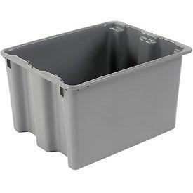 "LEWISBins SN2117-12 Polyethylene Container 21""L x 17""W x 12""H, Gray - Pkg Qty 5"