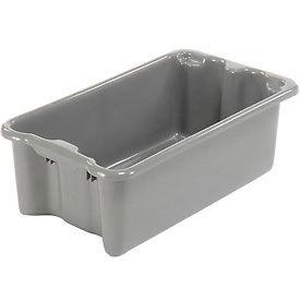 "LEWISBins SN2414-8 Polyethylene Container 24""L x 14""W x 8""H, Gray - Pkg Qty 5"