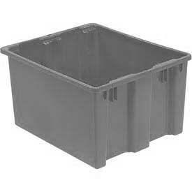 "LEWISBins SN3024-15 Polyethylene Container 30""L x 24""W x 15""H, Gray"