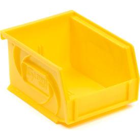 """LEWISBins Plastic Stacking Bin PB54-3 - 4-1/8""""W x 5-3/8""""D x 3""""H, Yellow - Pkg Qty 24"""