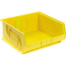 """LEWISBins Plastic Stacking Bin PB1416-7 - 16-1/2""""W x 14-3/4""""D x 7""""H, Yellow - Pkg Qty 6"""
