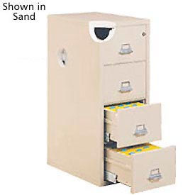 "Legal Size Fireproof File Cabinet 21""W x 25""D x 53""H - Light Gray"