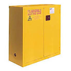 "Global&#8482 Flammable Cabinet  - Self Close Double Door 30 Gallon - 43""W x 18""D x 44""H"