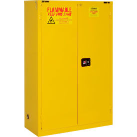 """Global&#8482 Flammable Cabinet  - Self Close Double Door 45 Gallon - 43""""W x 18""""D x 65""""H"""