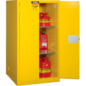 """Global&#8482 Flammable Cabinet - Manual Close Double Door 60 Gallon - 34""""W x 34""""D x 65'H"""