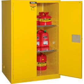 """Global&#8482 Flammable Cabinet - Manual Close Double Door 90 Gallon - 43""""W x 34""""D x 65""""H"""