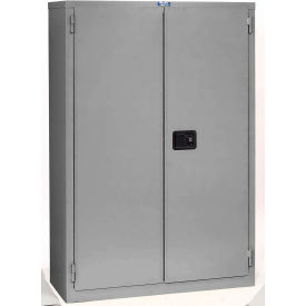 """Jamco Fire Resistant Cabinet BR55GP, All Welded 43""""W x 34""""D x 65'H Gray"""