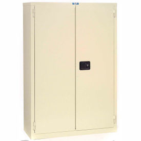 "Jamco Fire Resistant Cabinet BR43-AP, All Welded 34""W x 34""D x 65""H Putty"