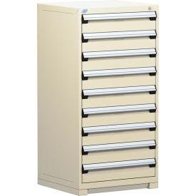 Rousseau Modular Storage Drawer Cabinet 30x27x60, 9 Drawers (1 Size) w/o Divider, w/Lock, Beige