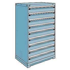 Exceptionnel Cabinets | Modular Drawer | Rousseau Metal Modular Storage Drawer Cabinet  36x24x60, 9 Drawers (1 Size) W/o Divider, W/Lock, Blue | 237238BL ...