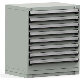 Rousseau Modular Storage Drawer Cabinet 36x24x40, 8 Drawers (2 Sizes) w/o Divider, w/Lock, Gray