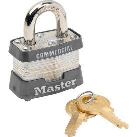 """Master Lock® No. 3KA Keyed Padlock - 3/4"""" Shackle - Keyed Alike - Pkg Qty 3"""