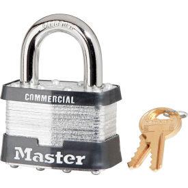 "Master Lock® Keyed Padlock - 1"" Shackle - Keyed Different - Pkg Qty 3"